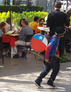 Young Chinchinero in Providencia, Santiago