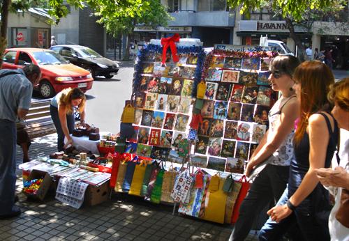 Christmas street shopping