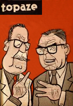 Topaze magazine featured political satire by illustrator Coke