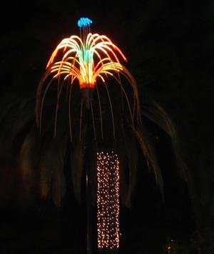 Fireworks decorations in Santiago