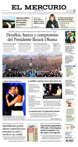 "El Mercurio ""Challenges, strength and commitment of President Barak Obama"" Jan 21, 2008"