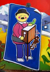 Santiago Centro: Organ grinder