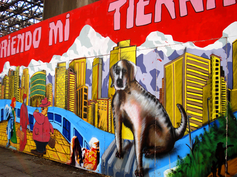 Central Chile: Santiago street dog and Metro