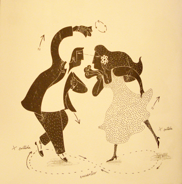 La cueca chora. Illustration by Alberto Montt