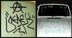 Tagged door (2008), Tagged car (2003)