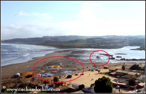 Concón post-terremoto. La Boca del Río Aconcagua