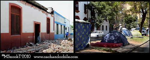 Chile Earthquake Santiago Barrio Yungay