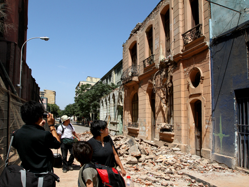 Chile Earthquake Santiago Barrio Brazil