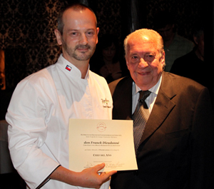Chef of the Year Franck Dieudonné with Jaime Martínez
