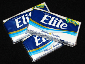 Elite tissue- pañuelos desechables- typical in Chile