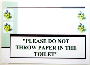 do not throw paper in the toilet