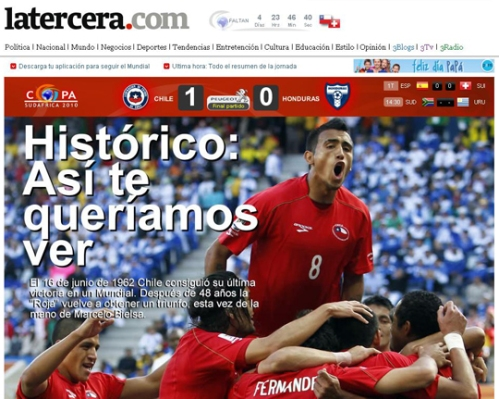 Chile beats Honduras in first World Cup match