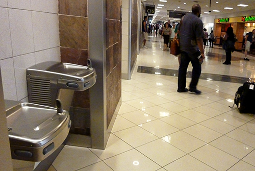 Drinking fountains at Atlanta Airport. June 2010. photo by M Snook