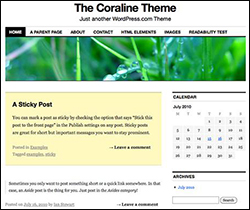 WordPress Coraline theme