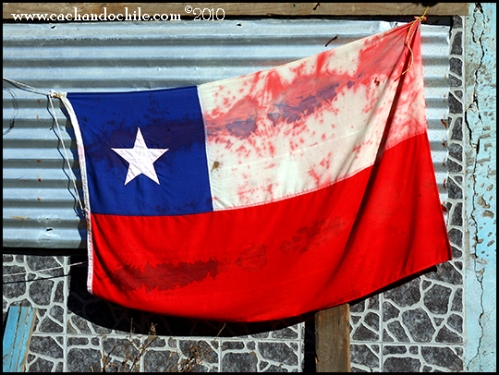 Chilean Flag_tsunami_Constitucion ©M Snook T 2010