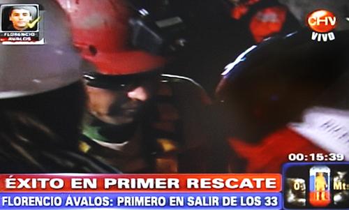 Rescate Minero- 1º en salir, Florencio Ávalos