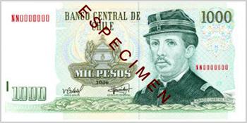 1,000 Chilean pesos (1 luca)