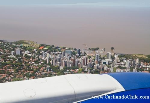 Aerial view of Buenos Aires, Argentina & Río de la Plata