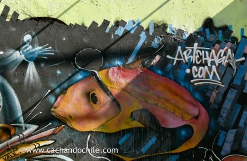 """Kathleen Skoczen: Santiago graffiti """"Vale"""" Artehaga.com"""
