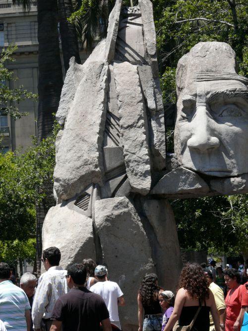 Plaza de Armas- Mapuche statue
