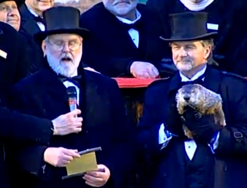 Groundhog Punxsatawney Phil makes his 125th proclamation