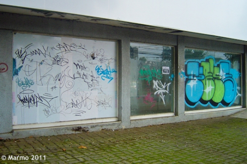 Graffiti in Temuco, Chile: Tags (Photo by Marmo, 2011)