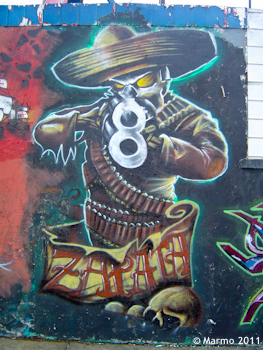 Graffiti from Temuco, Chile (Photo by Marmo, 2011)