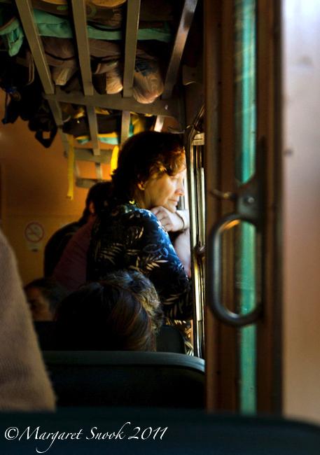 Pensive woman at the window, Ramal de Maule, Chile