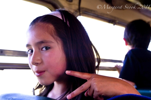 Girl on train. Ramal, Maule, Chile