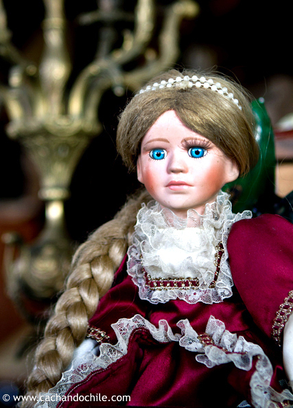Blue-eyed, golden-haired doll © Margaret Snook
