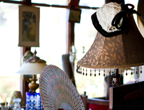 White hat & lamp © Margaret Snook