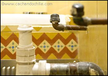 Unfinished plumbing