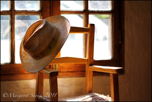 Chile, country home, hat, window